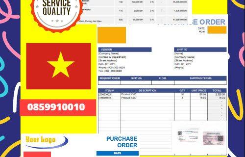 Jasa Legalisir Dokumen Perusahaan – Purchase Order (PO) Di Kedutaan Vietnam    08559910010