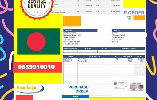 Jasa Legalisir Dokumen Perusahaan – Purchase Order (PO) Di Kedutaan Bangladesh || 08559910010