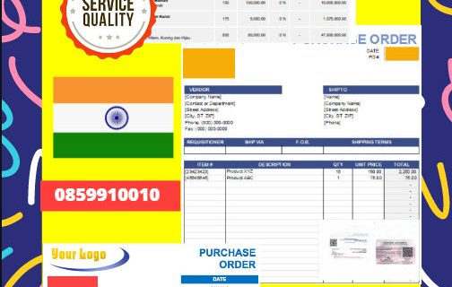 Jasa Legalisir Dokumen Perusahaan – Purchase Order (PO) Di Kedutaan India || 08559910010