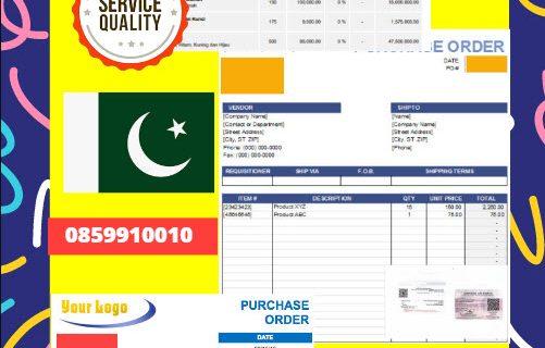 Jasa Legalisir Dokumen Perusahaan – Purchase Order (PO) Di Kedutaan Pakistan    08559910010