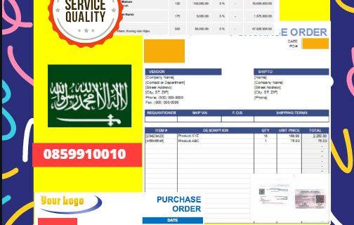 Jasa Legalisir Dokumen Perusahaan – Purchase Order (PO) Di Kedutaan Arab Saudi || 08559910010