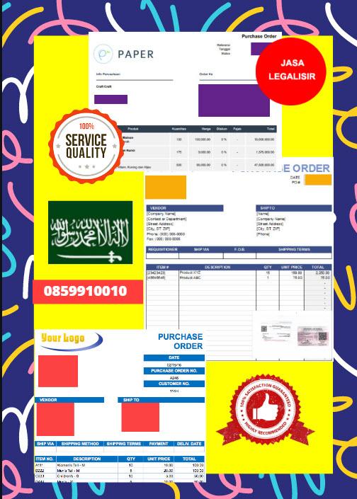 Jasa Legalisir Dokumen Perusahaan - Purchase Order (PO) Di Kedutaan Arab Saudi || 08559910010