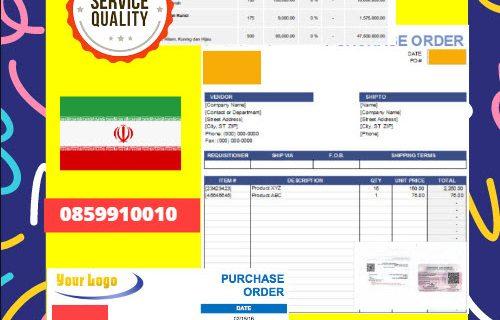 Jasa Legalisir Dokumen Perusahaan – Purchase Order (PO) Di Kedutaan Iran || 08559910010
