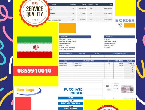 Jasa Legalisir Dokumen Perusahaan - Purchase Order (PO) Di Kedutaan Iran || 08559910010