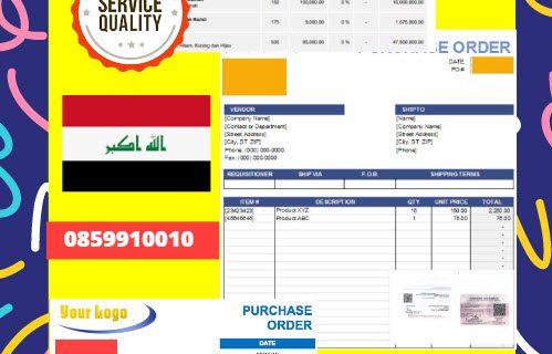 Jasa Legalisir Dokumen Perusahaan – Purchase Order (PO) Di Kedutaan Irak    08559910010