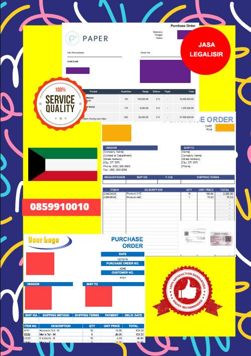 Jasa Legalisir Dokumen Perusahaan - Purchase Order (PO) Di Kedutaan Kuwait || 08559910010