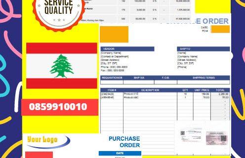 Jasa Legalisir Dokumen Perusahaan – Purchase Order (PO) Di Kedutaan Lebanon || 08559910010