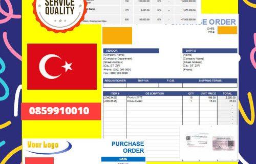 Jasa Legalisir Dokumen Perusahaan – Purchase Order (PO) Di Kedutaan Turki || 08559910010