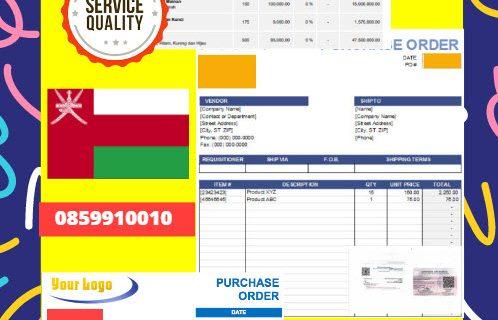 Jasa Legalisir Dokumen Perusahaan – Purchase Order (PO) Di Kedutaan Oman || 08559910010