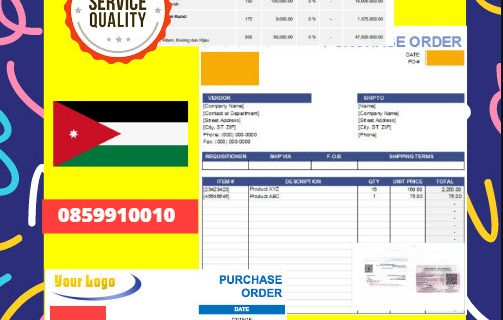 Jasa Legalisir Dokumen Perusahaan – Purchase Order (PO) Di Kedutaan Yordania    08559910010