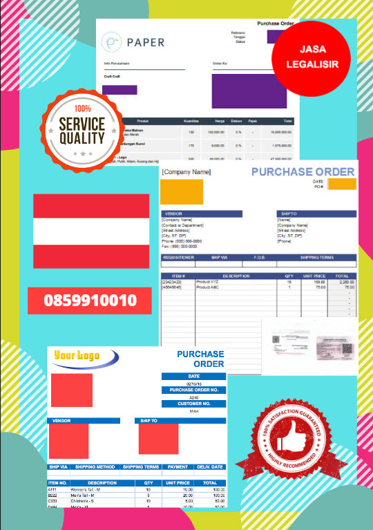 Jasa Legalisir Dokumen Perusahaan - Purchase Order (PO) Di Kedutaan Austria || 08559910010