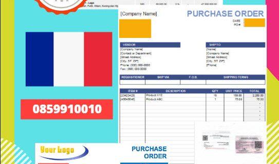 Jasa Legalisir Dokumen Perusahaan – Purchase Order (PO) Di Kedutaan Perancis || 08559910010
