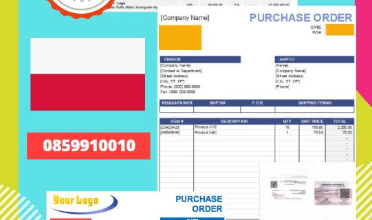 Jasa Legalisir Dokumen Perusahaan – Purchase Order (PO) Di Kedutaan Polandia || 08559910010