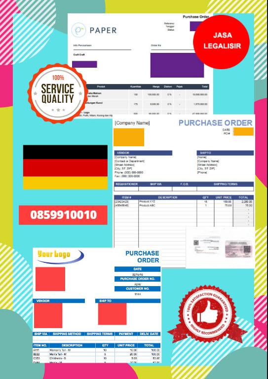 Jasa Legalisir Dokumen Perusahaan - Purchase Order (PO) Di Kedutaan Jerman || 08559910010