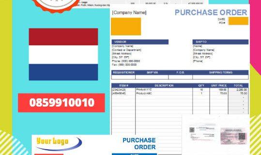 Jasa Legalisir Dokumen Perusahaan – Purchase Order (PO) Di Kedutaan Belanda || 08559910010