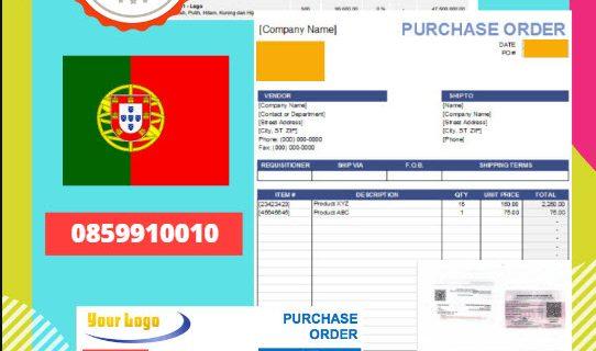 Jasa Legalisir Dokumen Perusahaan – Purchase Order (PO) Di Kedutaan Portugal || 08559910010
