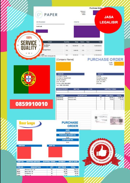 Jasa Legalisir Dokumen Perusahaan - Purchase Order (PO) Di Kedutaan Portugal || 08559910010