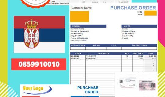 Jasa Legalisir Dokumen Perusahaan – Purchase Order (PO) Di Kedutaan Serbia || 08559910010