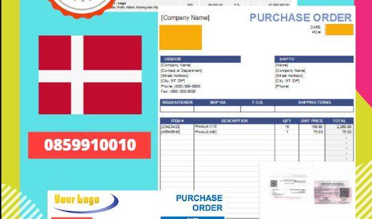 Jasa Legalisir Dokumen Perusahaan – Purchase Order (PO) Di Kedutaan Denmark || 08559910010