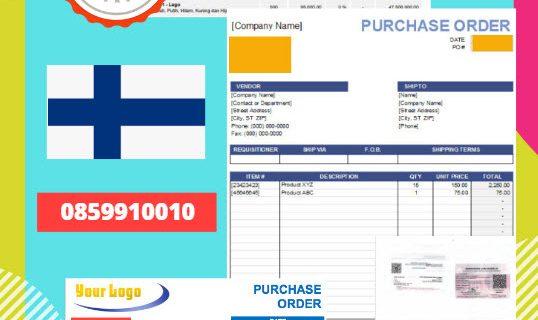 Jasa Legalisir Dokumen Perusahaan – Purchase Order (PO) Di Kedutaan Finlandia || 08559910010