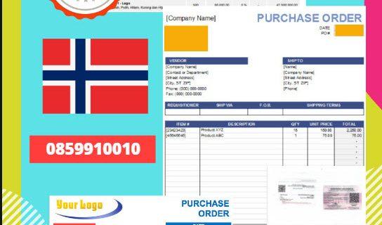 Jasa Legalisir Dokumen Perusahaan – Purchase Order (PO) Di Kedutaan Norwegia || 08559910010