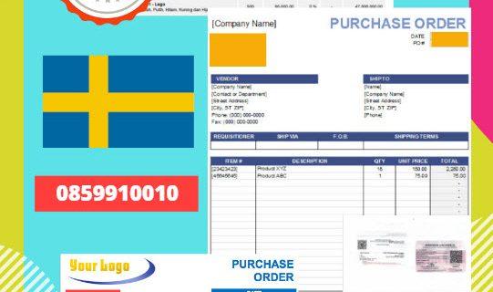 Jasa Legalisir Dokumen Perusahaan – Purchase Order (PO) Di Kedutaan Swedia || 08559910010