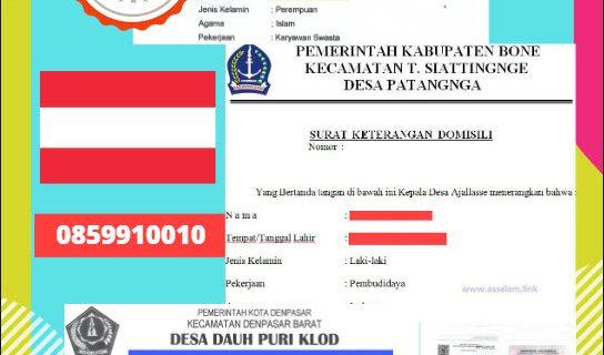 Jasa Legalisir Surat Keterangan Domisili Di Kedutaan Austria || 08559910010