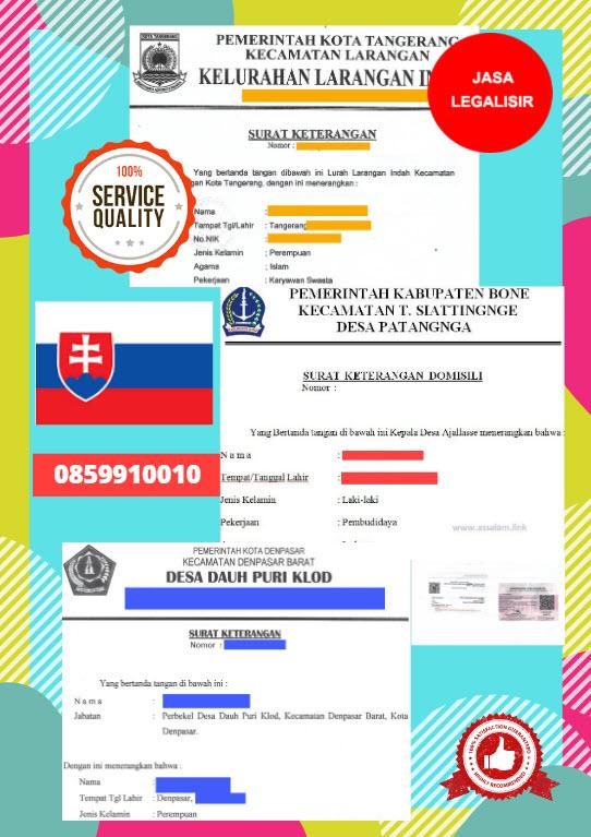 Jasa Legalisir Surat Keterangan Domisili Di Kedutaan Slowakia    08559910010