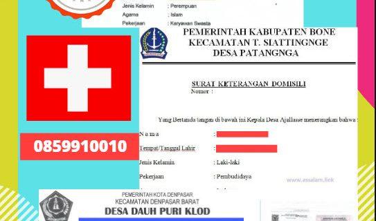 Jasa Legalisir Surat Keterangan Domisili Di Kedutaan Swiss / Switzerland    08559910010