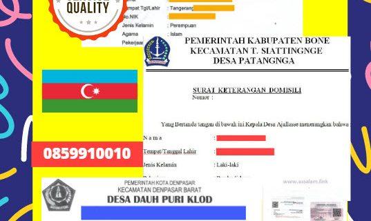 Jasa Legalisir Surat Keterangan Domisili Di Kedutaan Azerbaijan || 08559910010