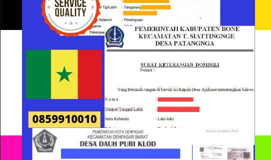 Jasa Legalisir Surat Keterangan Domisili Di Kedutaan Senegal || 08559910010