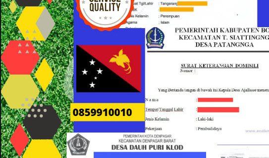 Jasa Legalisir Surat Keterangan Domisili Di Kedutaan Papua Nugini || 08559910010