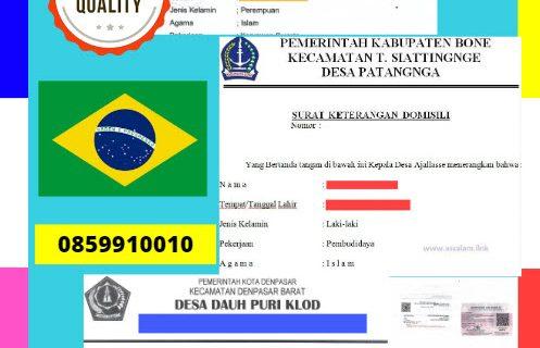 Jasa Legalisir Surat Keterangan Domisili Di Kedutaan Brasil || 08559910010