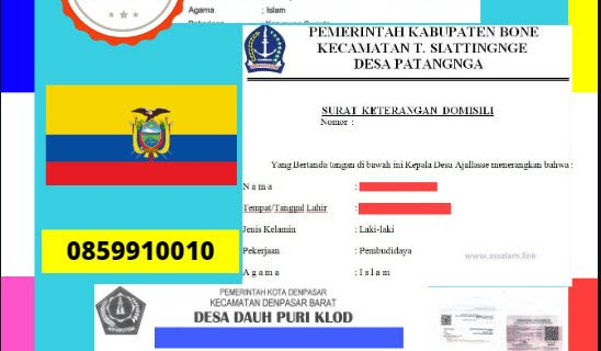 Jasa Legalisir Dokumen Terjemahan Berbahasa Inggris Di Kedutaan Ekuador  || 08559910010