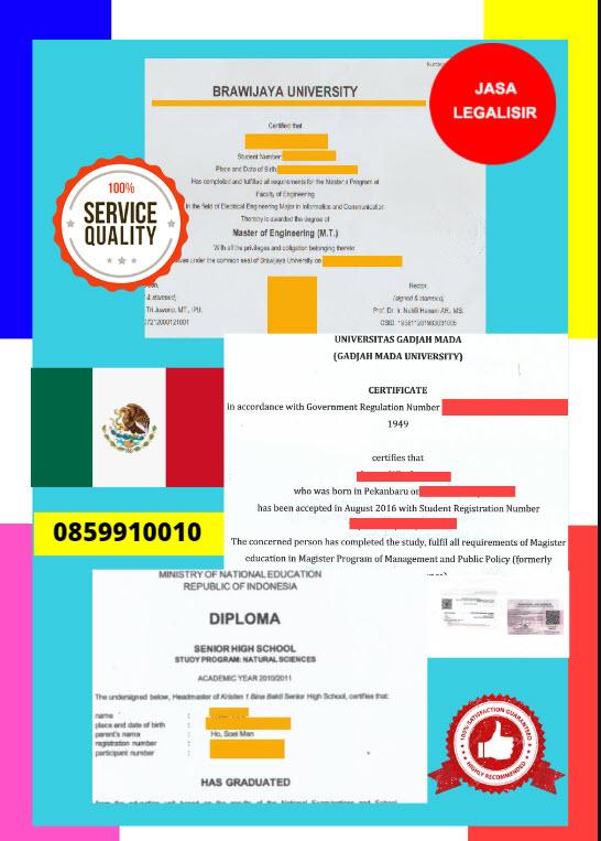 Jasa Legalisir Dokumen Terjemahan Berbahasa Inggris Di Kedutaan Meksiko || 08559910010