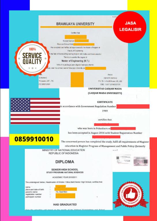 Jasa Legalisir Dokumen Terjemahan Berbahasa Inggris Di Kedutaan Amerika Serikat|| 08559910010