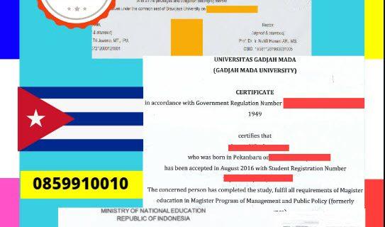 Jasa Legalisir Dokumen Terjemahan Berbahasa Inggris Di Kedutaan Kuba || 08559910010