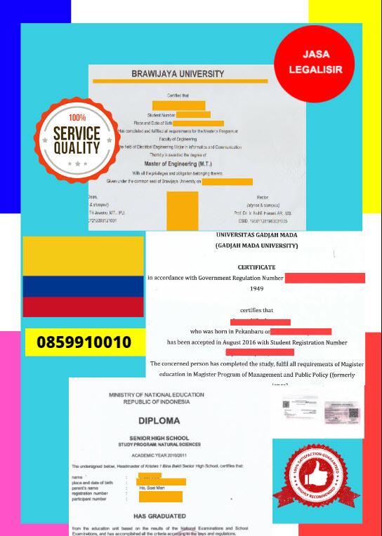 Jasa Legalisir Dokumen Terjemahan Berbahasa Inggris Di Kedutaan Kolombia || 08559910010