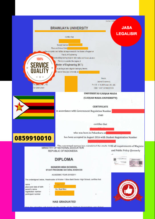 Jasa Legalisir Dokumen Terjemahan Berbahasa Inggris Di Kedutaan Zimbabwe || 08559910010