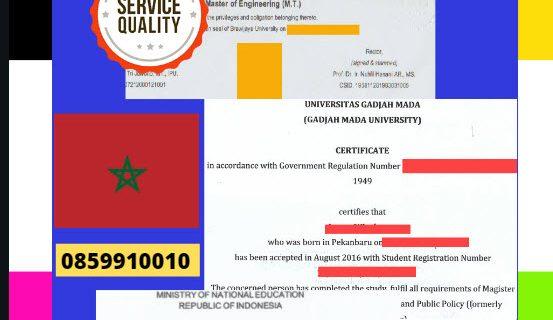 Jasa Legalisir Dokumen Terjemahan Berbahasa Inggris Di Kedutaan Moroko || 08559910010