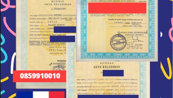 Jasa Legalisir Akta Lahir Indonesia di Bordeaux – Prancis    08559910010