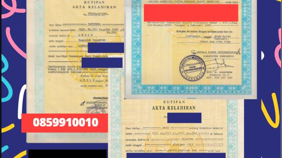 Jasa Legalisir Akta Lahir Indonesia di Berlin – Jerman  || 08559910010
