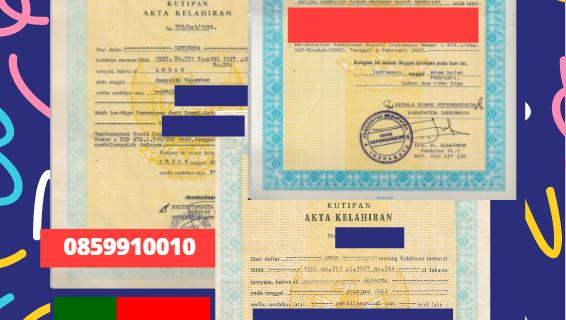 Jasa Legalisir Akta Lahir Indonesia di Braga- Portugal || 08559910010