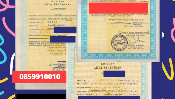 Jasa Legalisir Akta Lahir Indonesia di Potsdam – Jerman  || 08559910010