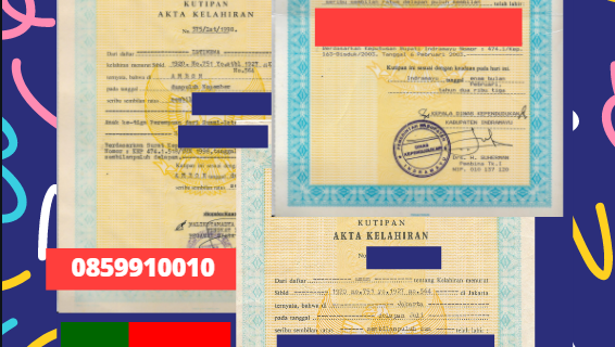 Jasa Legalisir Akta Lahir Indonesia di Évora- Portugal || 08559910010
