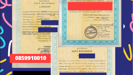 Jasa Legalisir Akta Lahir Indonesia di Hamburg – Jerman  || 08559910010