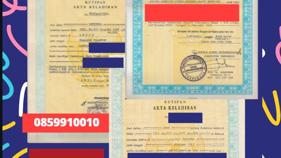 Jasa Legalisir Akta Lahir Indonesia di Maastricht – Belanda || 08559910010