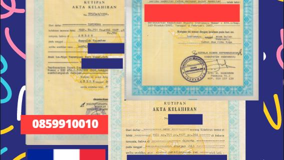 Jasa Legalisir Akta Lahir Indonesia di Fort-de-France – Prancis || 08559910010