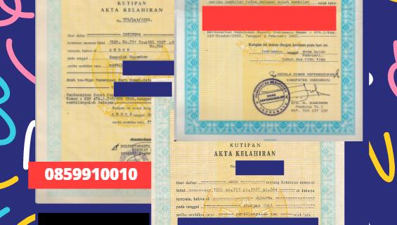 Jasa Legalisir Akta Lahir Indonesia di Schwerin – Jerman  || 08559910010