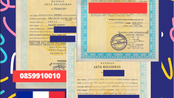 Jasa Legalisir Akta Lahir Indonesia di Ositania – Prancis || 08559910010